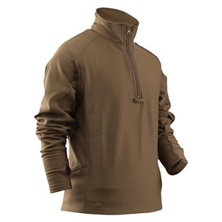 24-7 Series Zip Thru Grid Fleece Pullover Coyote