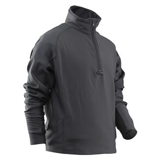 24-7 Series Zip Thru Grid Fleece Pullover Charcoal
