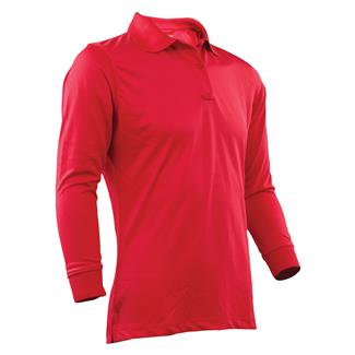 24-7 Series Long Sleeve Performance Polo Range Red