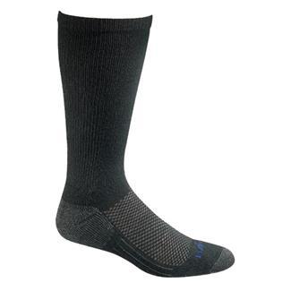 Bates Coolmax Performance Mid Calf Socks - 4 Pair Black