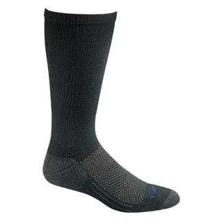 Bates Coolmax Performance Mid Calf Socks - 4 Pair Black