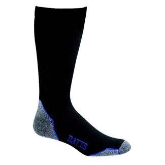 Bates Moderate Compression Mid Calf Socks - 4 Pair Black