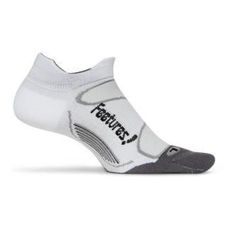 Feetures Elite Light Cushion No Show Tab Socks White / Black