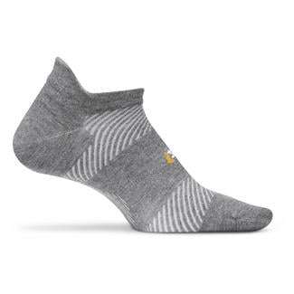 Feetures! High Performance 2.0 Ultra Light No Show Tab Socks Heather Gray