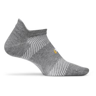 Feetures! High Performance 2.0 Ultra Light No Show Tab Socks Heather Gray