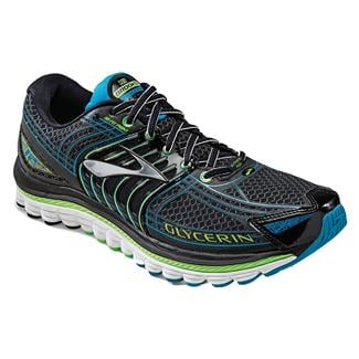 Brooks Glycerin 12 Black / Green Gecko / Atomic Blue