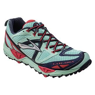 Brooks Cascadia 9 Yucca / Obsidian / Hibiscus