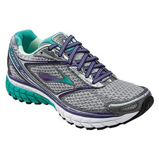Brooks Ghost 7 Silver / Mulberry Purple / Pool Green