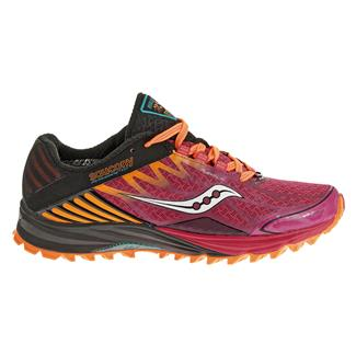Saucony Peregrine 4 Black / Purple / Orange