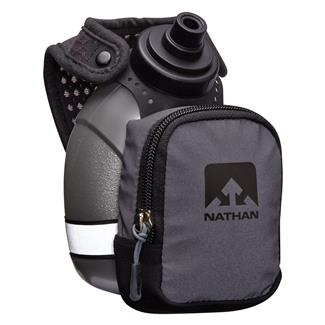 Nathan QuickShot Plus BlackLight Water Bottle Black Reflective