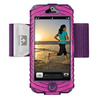 Nathan SonicBoom Armband Phone Cases iPhone 5 / 5S Floro Fuchsia / Imperial Purple