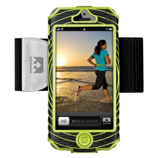 Nathan SonicBoom Armband Phone Cases iPhone 5 / 5S Black / Lime
