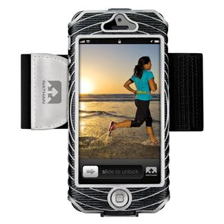Nathan SonicBoom Armband Phone Cases iPhone 5 / 5S Black / Silver