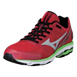 Mizuno Wave Rider 17 Barbados Cherry / Silver / Green Flash