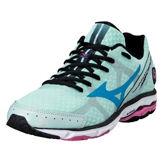 Mizuno Wave Rider 17 Honeydew / Caribbean Sea / Shocking Pink