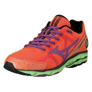 Mizuno Wave Rider 17 Celosia / Purple Passion / Green Flash