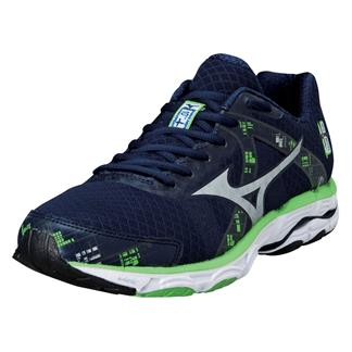Mizuno Wave Inspire 10 Dress Blue / Silver / Green Flash