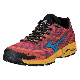Mizuno Wave Kazan Chinese Red / Dude Blue / Spectra Yellow