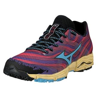 Mizuno Wave Kazan Chinese Red / Alaskan Blue / Purple Passion