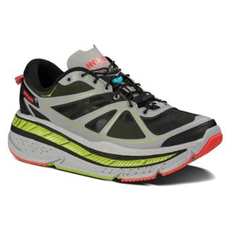 Hoka One One Stinson Lite Gray / Lime / Red