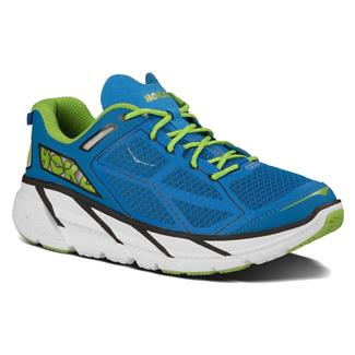 Hoka One One Clifton Blue / Black / Lime