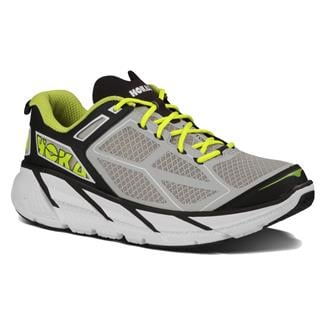 Hoka One One Clifton Black / Gray / Neon