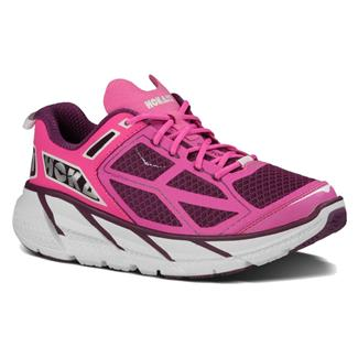 Hoka One One Clifton Plum / Fushia / White