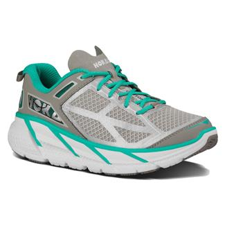 Hoka One One Clifton Aqua / Gray / White
