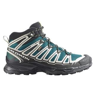 Salomon X Ultra Mid GTX Deep Blue / Aluminum / Gecko Green