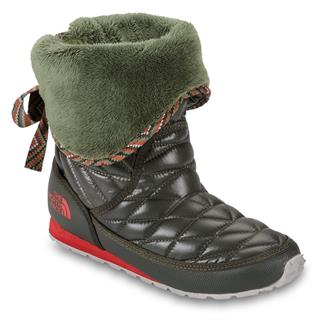 The North Face ThermoBall Roll-Down Bootie II Shiny Forest Night Green / Grecian Green