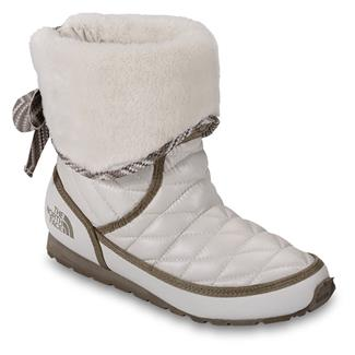 The North Face ThermoBall Roll-Down Bootie II Shiny Moonlight Ivory / Classic Khaki