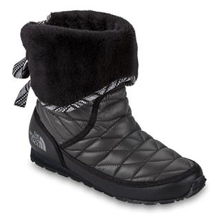 The North Face ThermoBall Roll-Down Bootie II Shiny TNF Black / TNF Black
