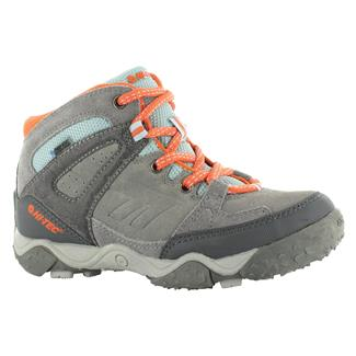 Kids' Hi-Tec Tucano JR WP Graphite / Gray / Peachy