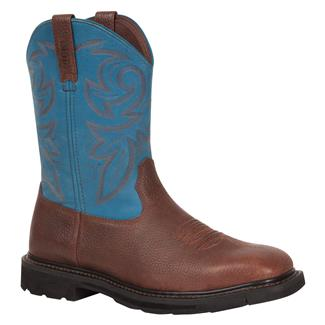 "Rocky 11"" Farmstead Square Toe Dark Brown / Blue"