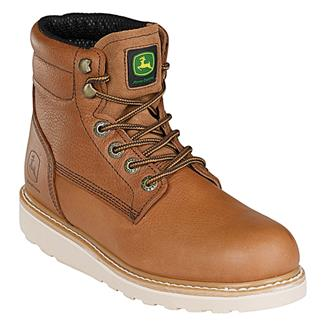 """John Deere 6"""" Ag and Utility Lace-Up Wedge Tan Soggy"""