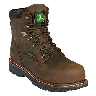 "John Deere 6"" Ag and Utility Wide Load Toe Lace-Up ST WP Aged Oak"