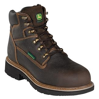 """John Deere 6"""" Ag and Utility Lace-Up ST WP Chocolate"""