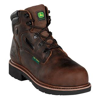 "John Deere 6"" Lace-Up Met Guard ST Mahogany"