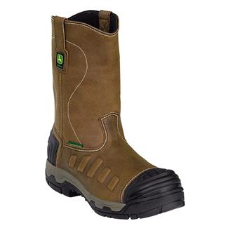 "John Deere 11"" WCT Pull-On WP Tan Soggy"