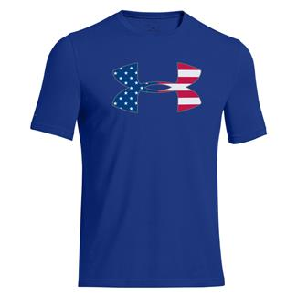 Under Armour Big Flag Logo T-Shirt Royal