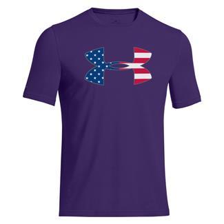 Under Armour Big Flag Logo T-Shirt Purpleheart