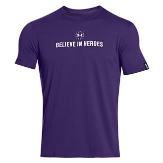 Under Armour WWP Believe In Heroes T-Shirt Purpleheart
