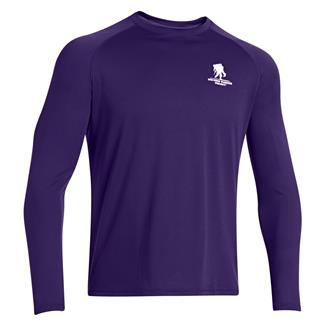 Under Armour Long Sleeve WWP Tech T-Shirt Purpleheart
