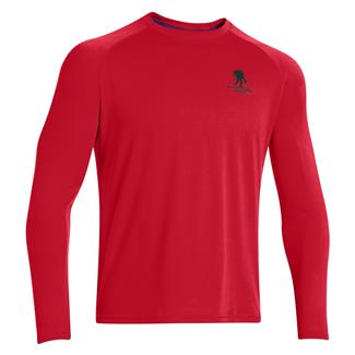 Under Armour Long Sleeve WWP Tech T-Shirt Red