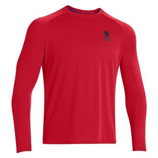 Under Armour Long Sleeve WWP Tech T-Shirt Red