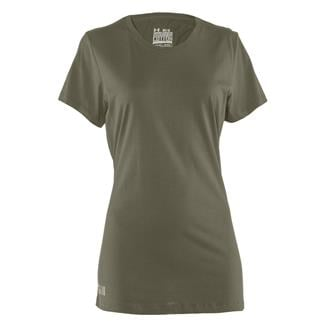 Under Armour Fitted Charged Cotton T-Shirt Marine OD Green
