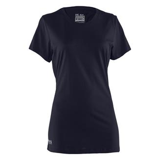 Under Armour Fitted Charged Cotton T-Shirt Dark Navy Blue