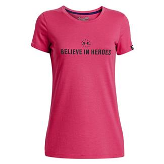 Under Armour WWP Believe In Heroes T-Shirt Pink Sky