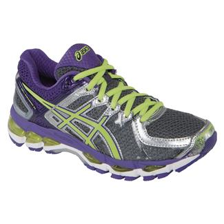 ASICS GEL-Kayano 21 Charcoal / Sharp Green / Purple