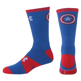 Under Armour Alter Ego Crew Socks Blue / Red